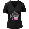PRINCESSES Are Born In JUNE Birthday Tee Shirt
