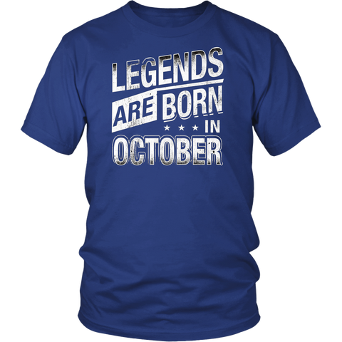Legends Are Born In October Funny Birthday Gift Idea T-Shirt