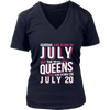 Real Queens Are Born On July 20 T-shirt 20th Birthday Gifts