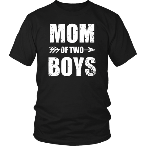 Mom Of Two Boys - Cute Mother's Day Mommy T-Shirt