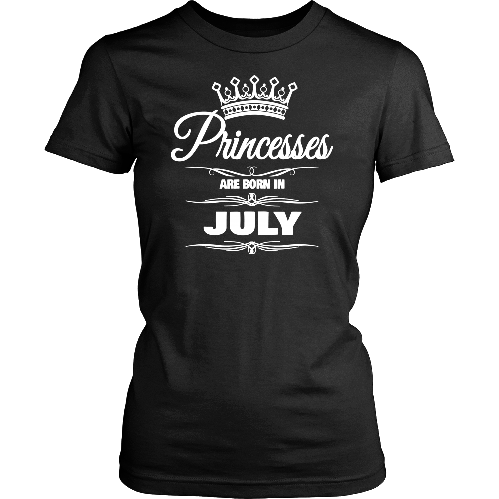 GIRL'S PRINCESSES ARE BORN IN JULY BIRTHDAY NOVELTY T-SHIRT