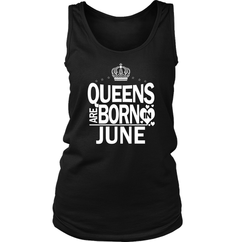 Queens Are Born In June Birthday Womens Kids T-Shirt