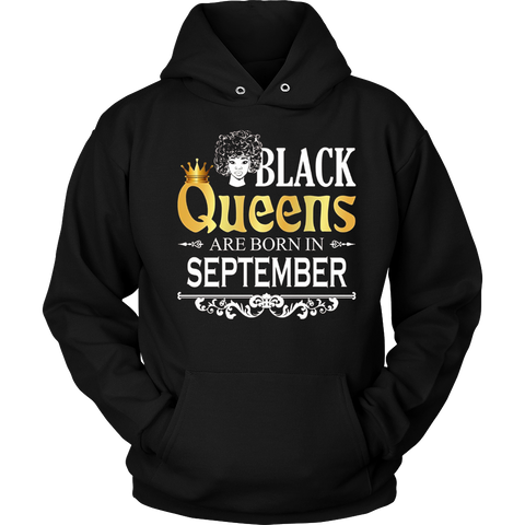 Black Girl B day T Shirt Black Queens Are Born In September