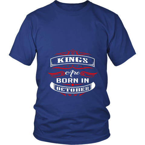 Kings Are Born In October Shirts