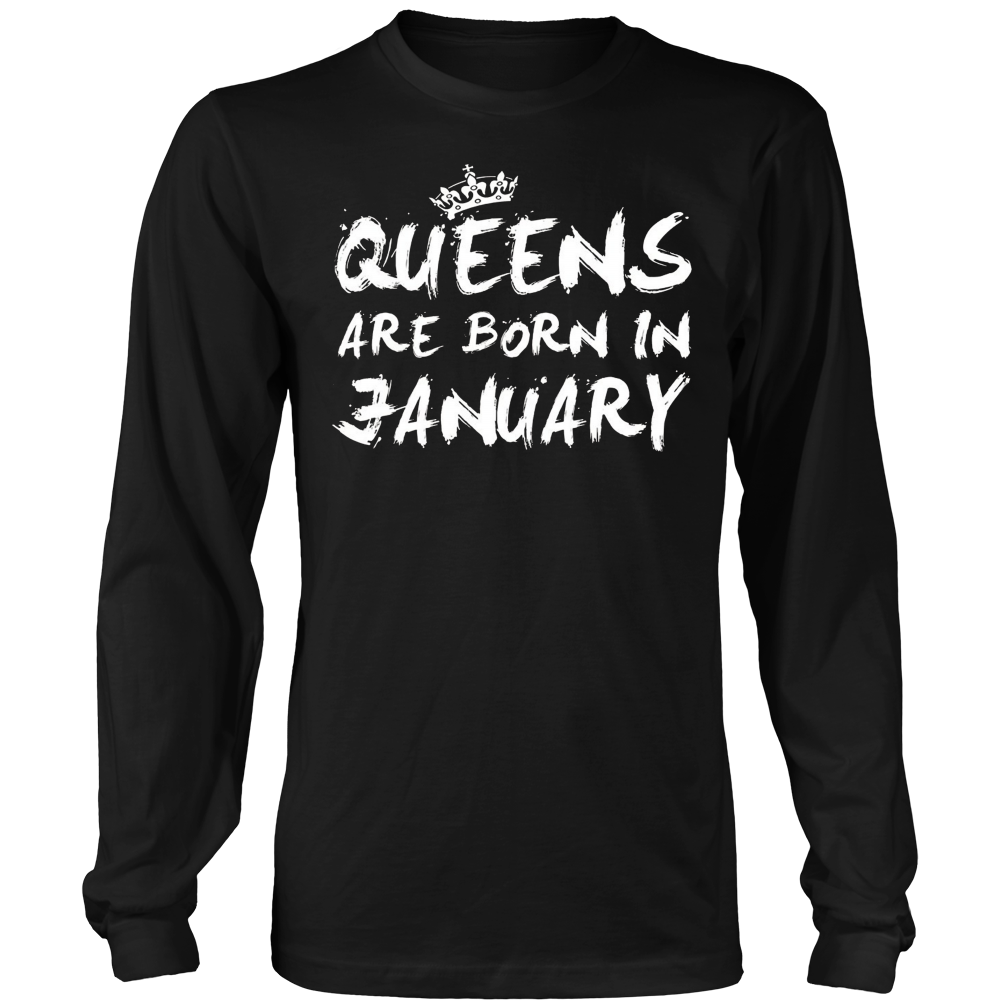 Queen Are Born in January Birthday Gift Shirt Ideas 2017