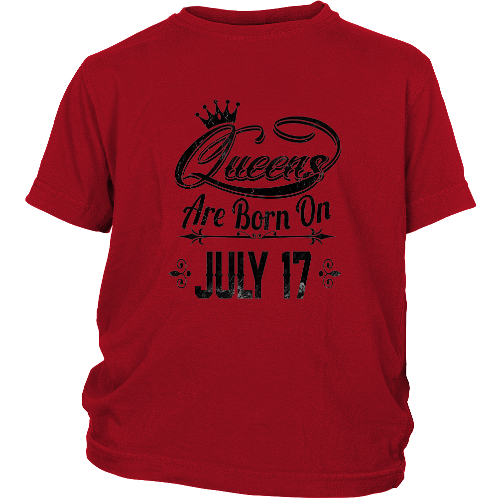 Queens Are Born On July 17 shirt