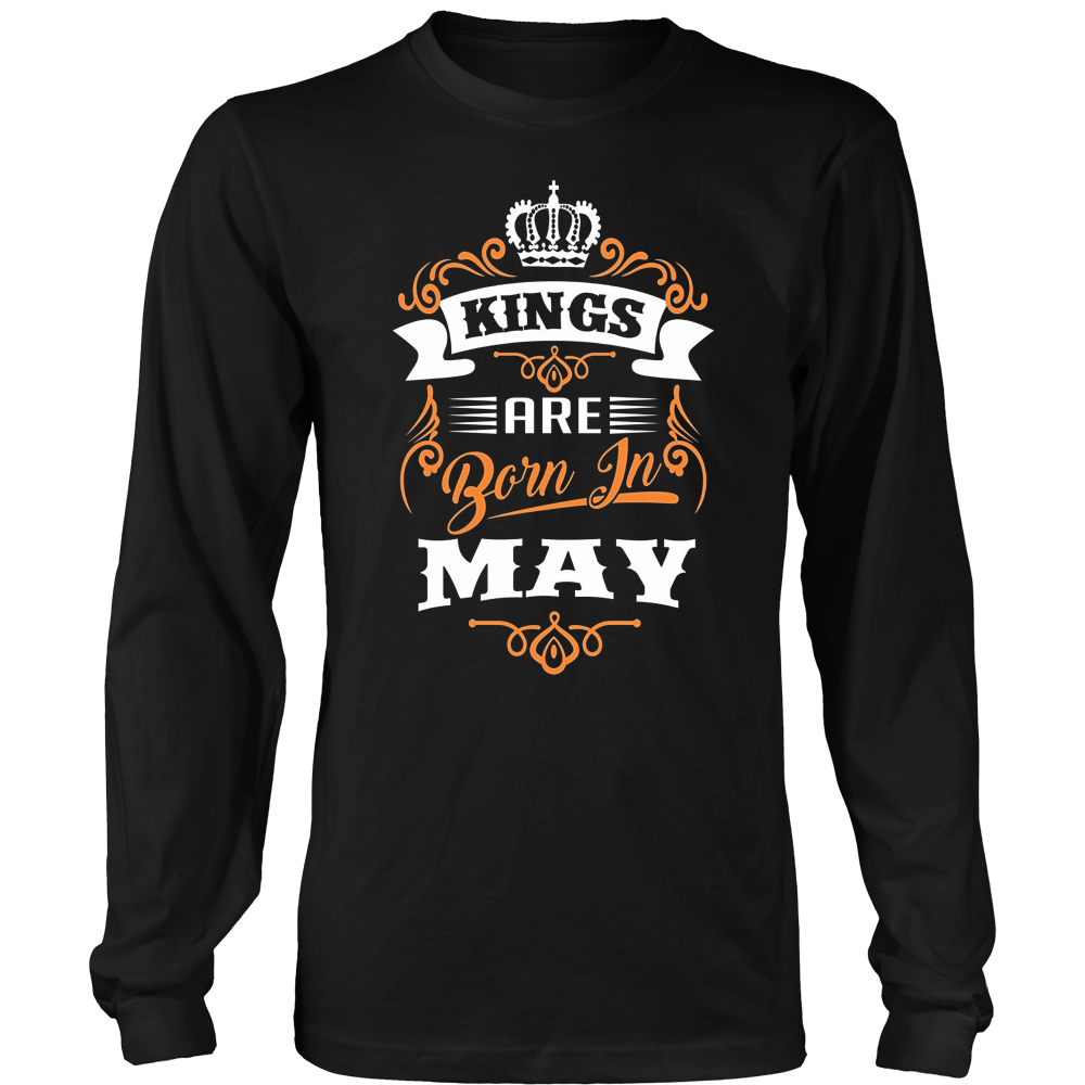 Hoodie Kings Are Born In May - Birthday T-Shirt
