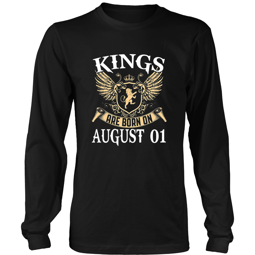 Kings Are Born On August 01 T-shirt August Birthday Gifts