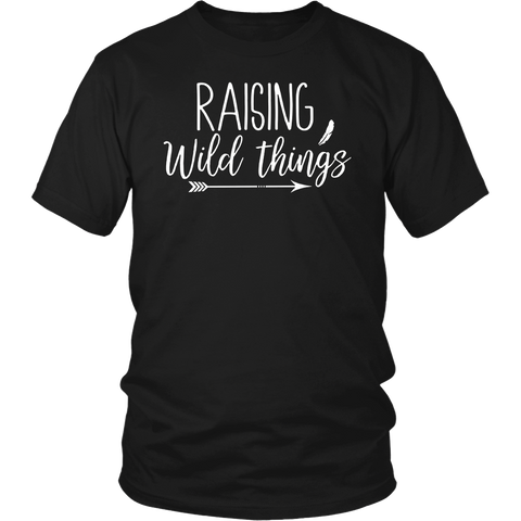 Raising Wild Things Cute Funny Mom T-shirt Mother's Day Gift