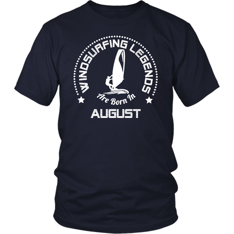 Funny T-Shirt Windsurfing Legends Are Born In August