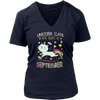Unicorn Cats Are Born In September Birthday Tshirt Hoodie