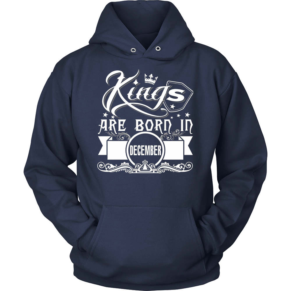 MEN'S KINGS ARE BORN IN DECEMBER T SHIRT BIRTHDAY GIFT