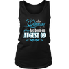 Queens Are Born On August 09 T-Shirt Birthdat Gift