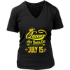 Queens Are Born On July 15 Tshirt