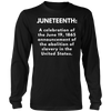 Black Juneteenth Celebration Shirt for Kids and Adults