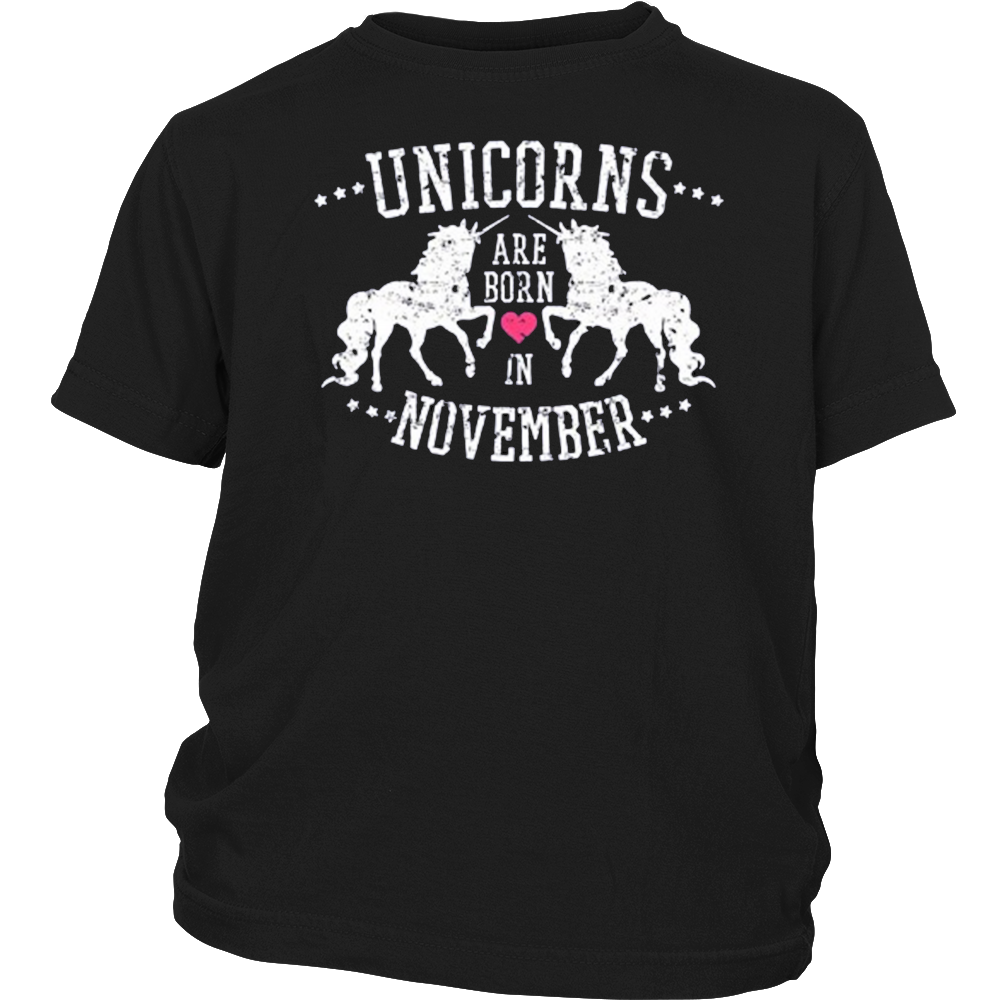 Unicorns Are Born in November Vintage Unicorn Birthday Shirt