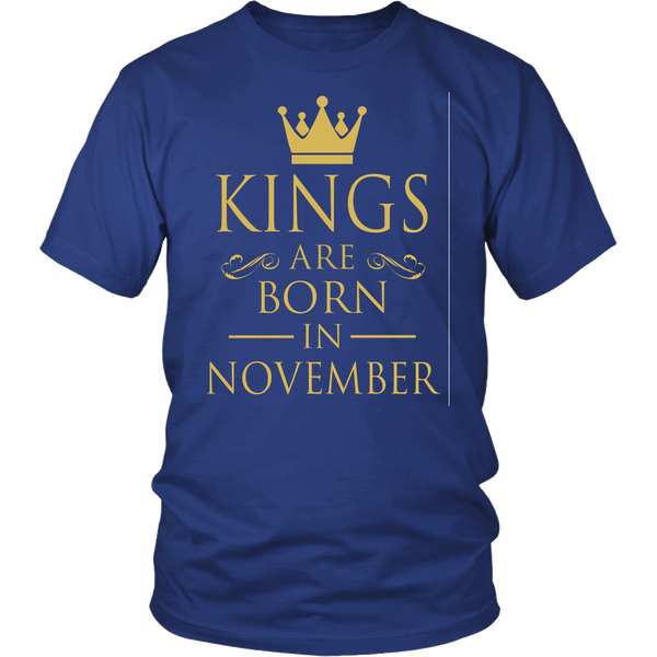 Kings Are Born In November Shirt