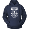 LEGENDS ARE BORN IN AUGUST Gym T-Shirt Workout Fitness