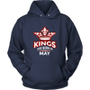 Kings Are Born In May Tshirt Funny Birthday Shirt