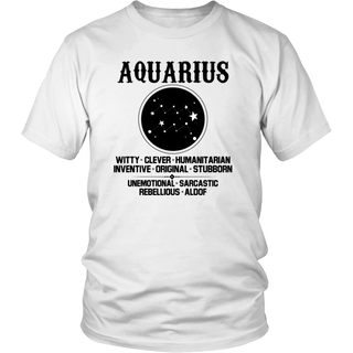 Aquarius Zodiac Sign T-Shirt
