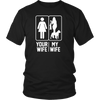 Men's Your Wife My Wife Love Pit Bull Love Valentine day Gift Shirt
