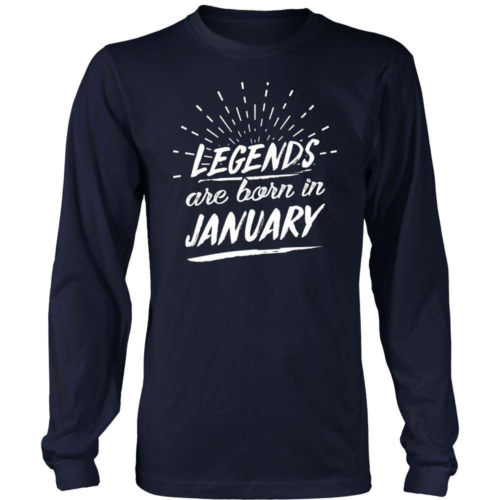Legends Are Born In January Birth Month T Shirt