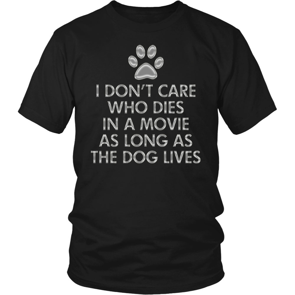 The Dog Lives in Movies Dark T-Shirt