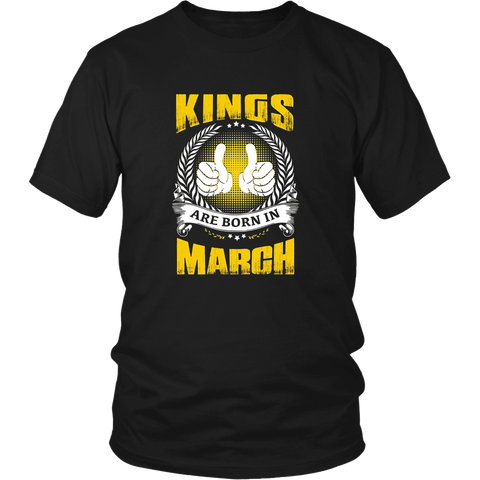 Kings Are Born in March Shirt Birthday Gifts for Men Boys
