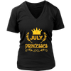 Princesses Are Born in July T-shirt Gift Funny Women Vintage