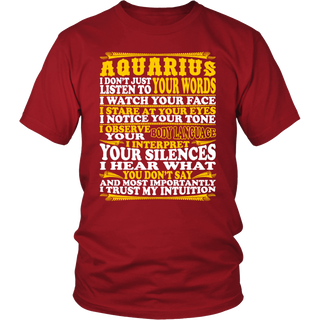 Aquarius Observe Interpret Trust Intuition Tshirt