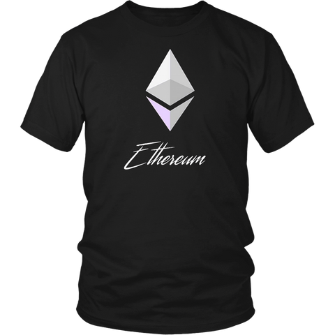 Ethereum Shirt Diamond White - Spread the Ether love