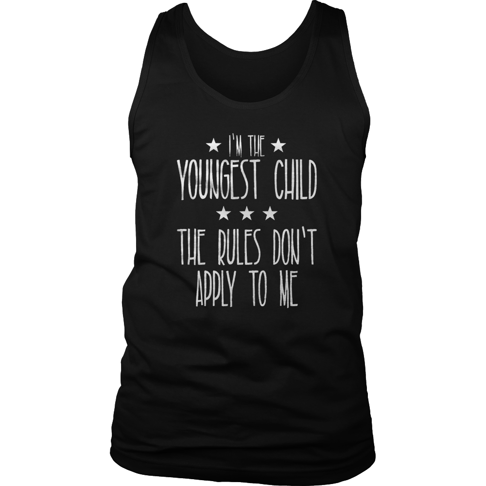 Youngest Child - The Rules Don't Apply To Me Tshirt for Baby