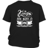 Men's Black King Are Born In April T-shirt