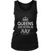 Women's Birthday T-Shirt Queens Are Born In July