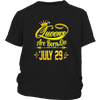 Queens Are Born On July 29 Tshirt