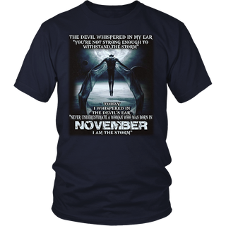 The Devil - born in November - the storm - Woman T-shirt