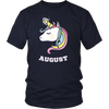 Unicorns are Born in August Cute T-Shirt