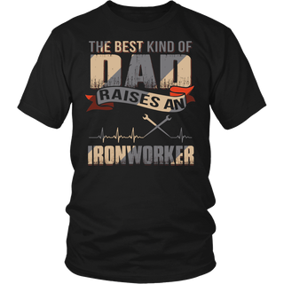 Father day gift Best dad raise an ironworker shirt