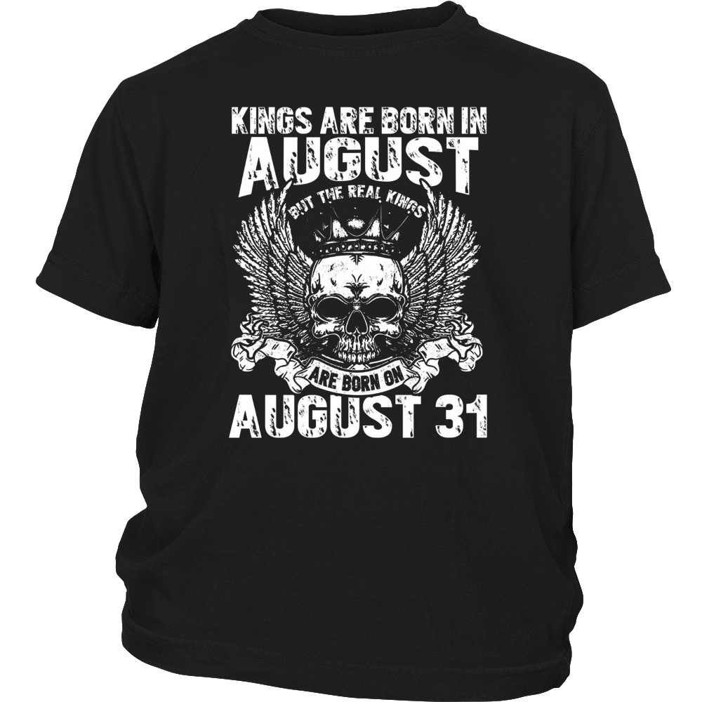 The Real Kings Are Born On August 31st T-Shirt Leo Zodiac