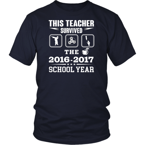 This Teacher Survived The 2016 2017 School Years T-shirt