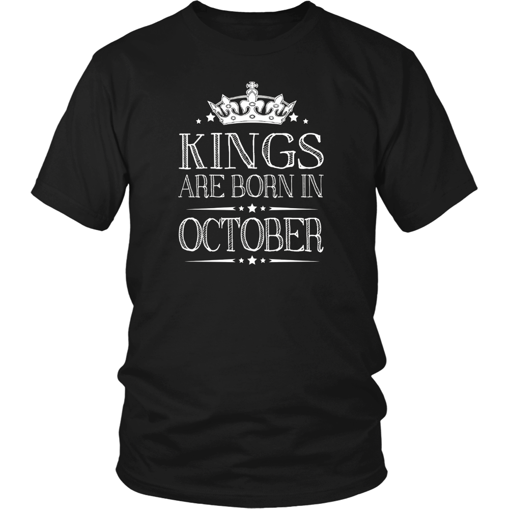 Kings Are Born In October Best Birthday Gifts for Men Boy