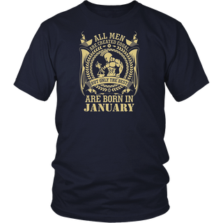 Men's But Only The Best Are Born In January Gift T-Shirt