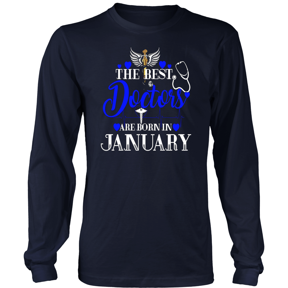 Best Doctors Are Born In January Birthday Shirt Gift MD