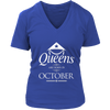 Womens Queens are Born in OCTOBER Vietnam Birthday White C3 T-shirt