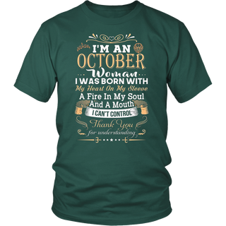 I'm An October Girl T-Shirt for women