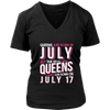 Real Queens Are Born On July 17 T-shirt 17th Birthday Gifts