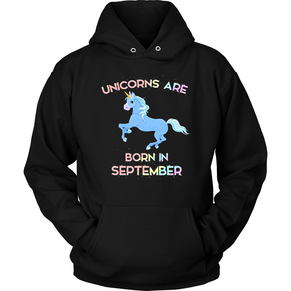 Unicorns Are Born In September T-Shirt Birthday