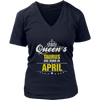 QUEENS ARE BORN IN APRIL Birthday Tee T-Shirt gift