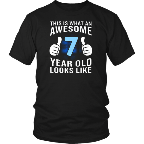 This is What an Awesome 7 Year Old Looks Like T-Shirt Funny