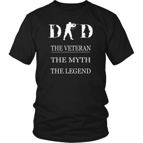 Dad The Veteran T-shirt Best Gift For Father's Day